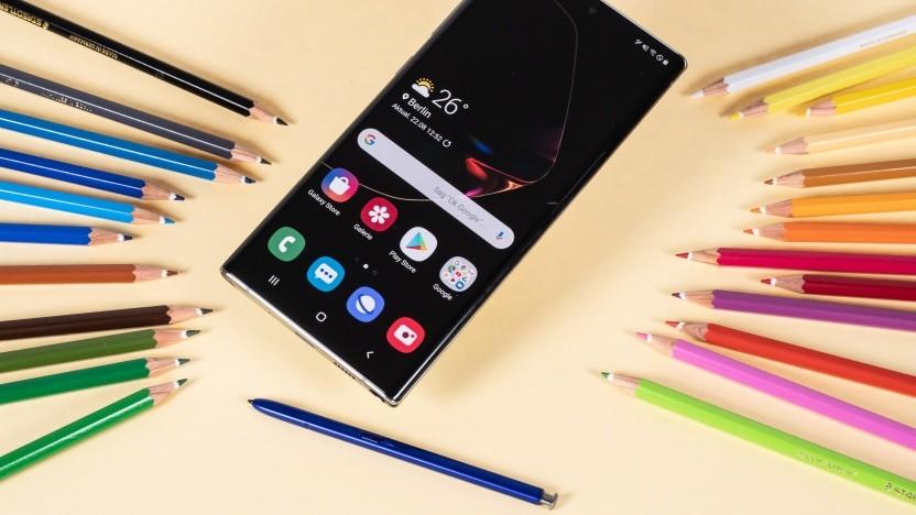 Das Galaxy Note 10+ mit dem S Pen