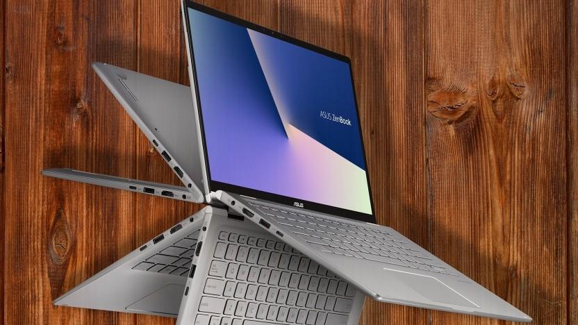 Das Zenbook Flip 14 hat ein 360-Grad-Scharnier.
