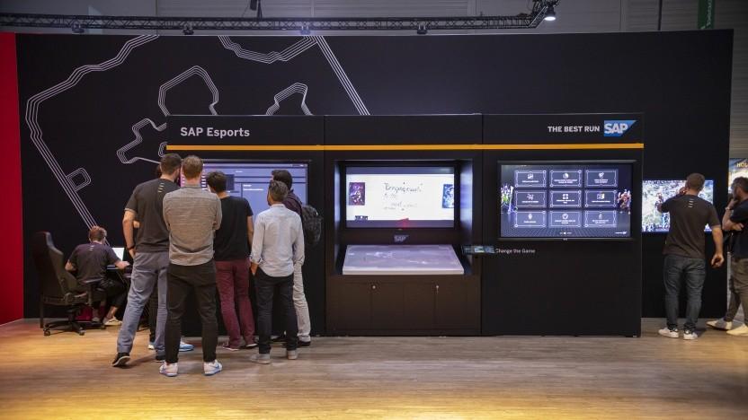 Der Softwarekonzern SAP auf der Gamescom 2019 in Halle 8