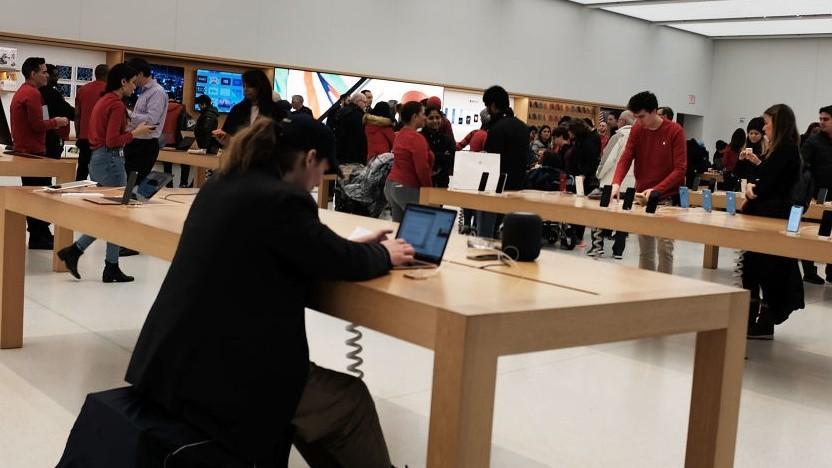 Der Apple Store in Manhattan