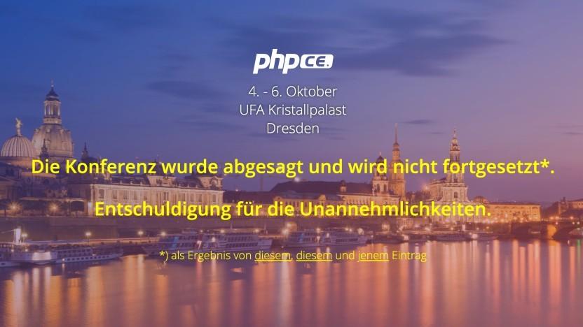 Die PhpCe-Konferenz wurde kurzfristig abgesagt.