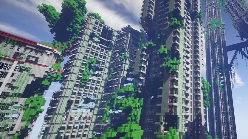 KI könnte künftig beim Bau solcher großen Minecraft-Projekte helfen.