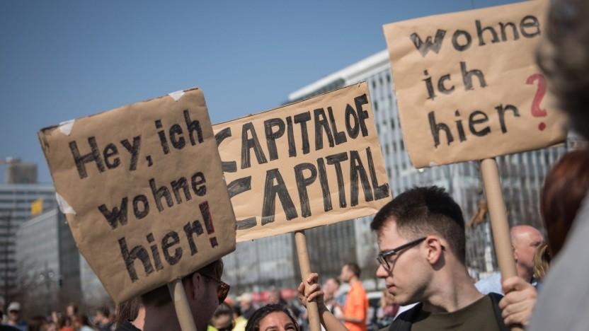 Demonstration gegen hohe Mieten (in Berlin im April 2019): Die soziale Heterogenität geht verloren.