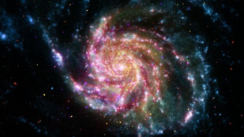 Eine Aufnahme der Feuerrad-Galaxie, die 21 Millionen Lichtjahre von der Erde entfernt ist.