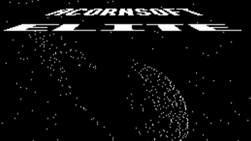 Titelscreen von Elite (1984)