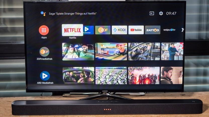 JBLs Link Bar läuft mit Android TV und Google Assistant.