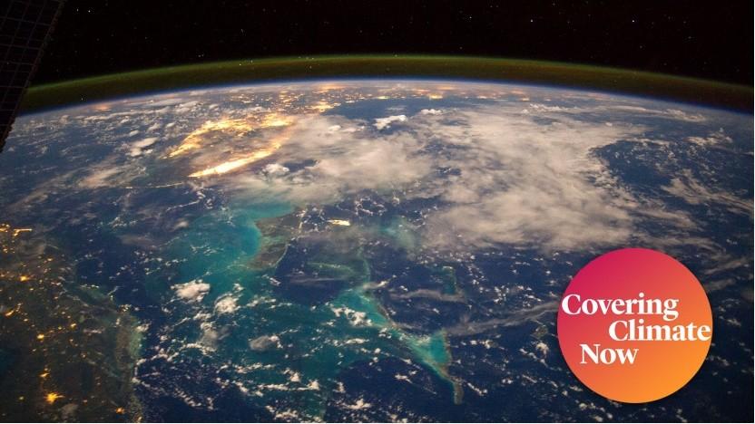 Das karibische Meer von der ISS aus gesehen