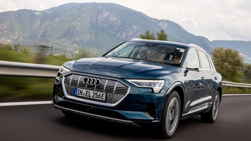 Wie schlägt sich der Audi E-Tron auf einer 24-Stunden-Fahrt über die Alpen?