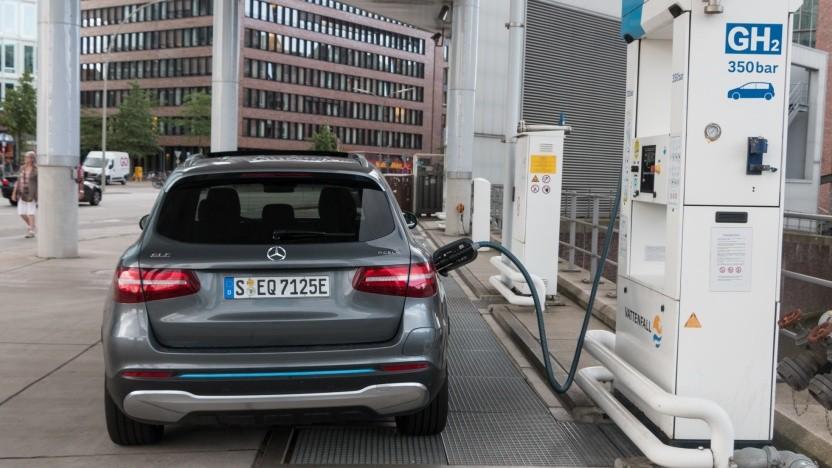 Wasserstofftankstelle in Hamburg (Symbolbild): zwei Tonnen Wasserstoff pro Stunde