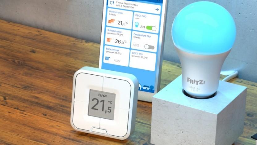 AVM zeigt auf der Ifa eine LED-Leuchte und Taster mit Dect-Anbindung.