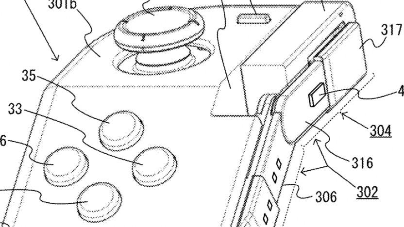 Konzeptzeichnung des knickbaren Eingabegeräts