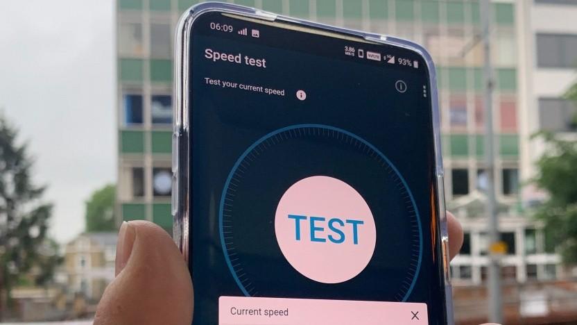 Testaufbau bei Opensignal bei 5G