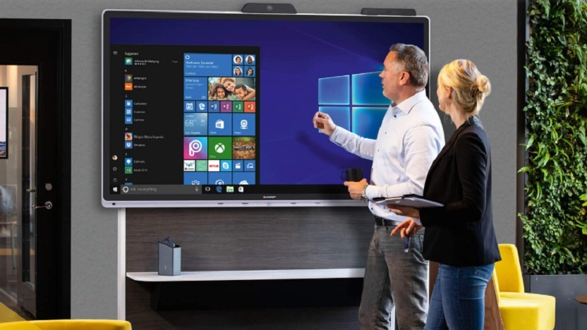 Sharp baut Konferenzsysteme mit Windows 10.