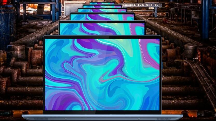 Fabriken produzieren Notebooks auf Vorrat.