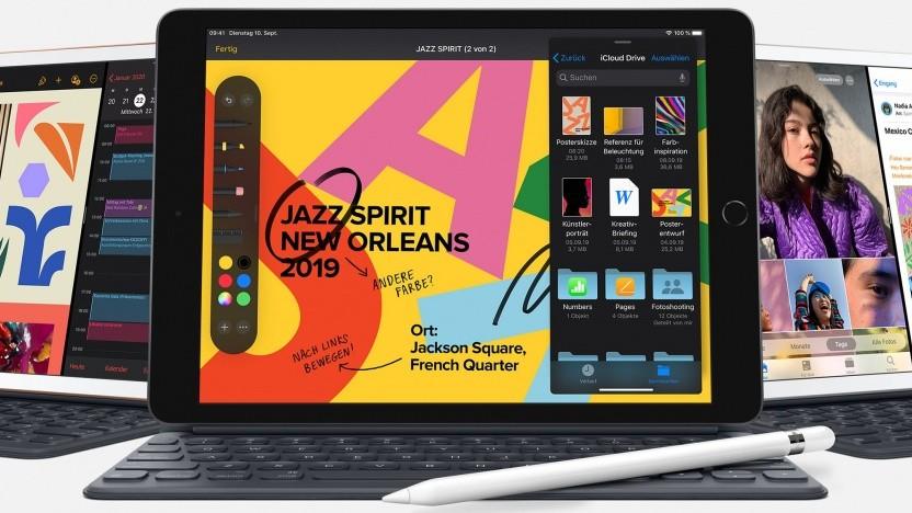 Das neue iPad unterstützt den Apple Pencil und eine ansteckbare Tastatur.