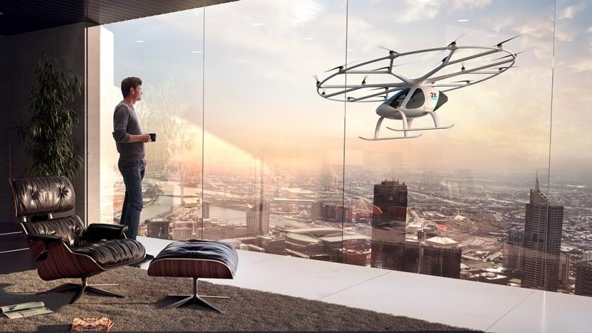 So stellt sich Volocopter die Zukunft vor.