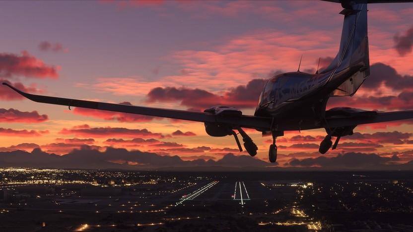 Artwork von Microsofts Flight Simulator