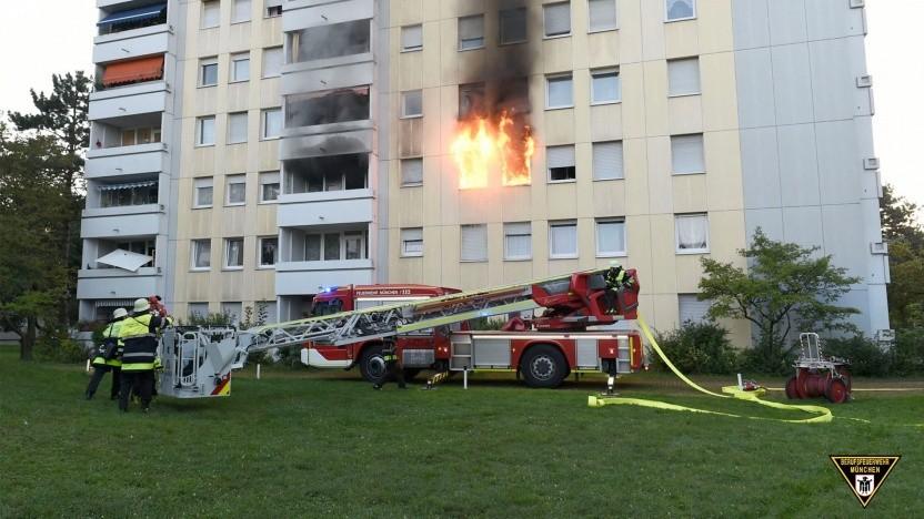 Das brennende Wohnhaus