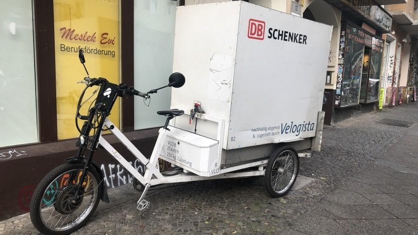 Lastenfahrrad von DB Schenker