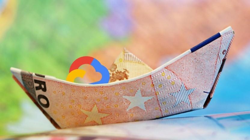 Der Euro rollt bei Google.