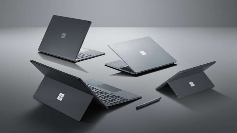Bald soll sich hier noch ein Surface Laptop 3 mit 15 Zoll dazugesellen.