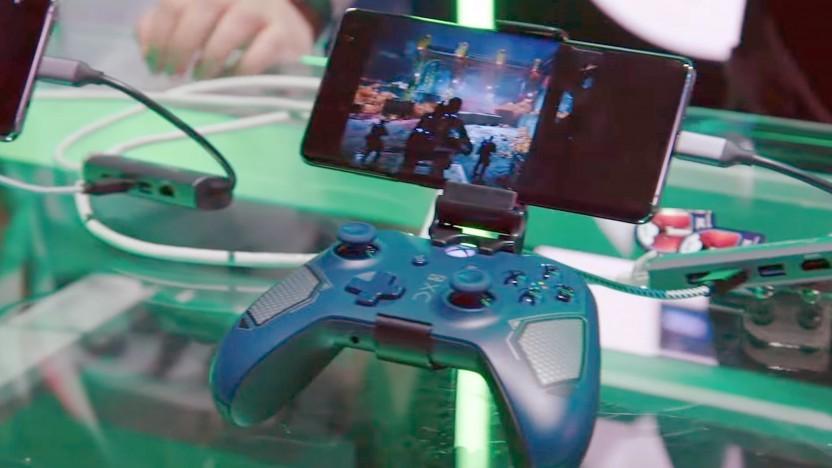 Spielestreaming auf einem Smartphone im Rahmen der E3 2019