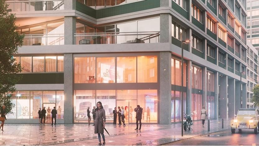 Grafik des neuen Geschäftshauses in Berlin