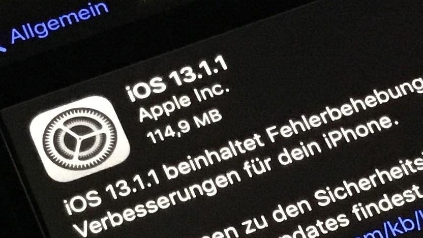 iOS 13.1.1 ist da