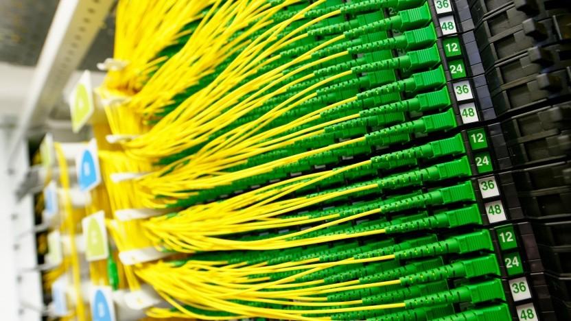 Glasfaserhauptverteiler der Deutschen Glasfaser