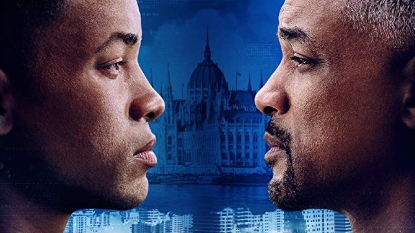 Filmposter mit Will Smith und seinem verjüngten CGI-Klon.