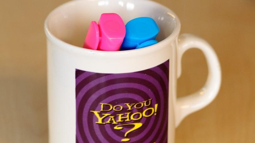 Eine Tasse von Yahoo.