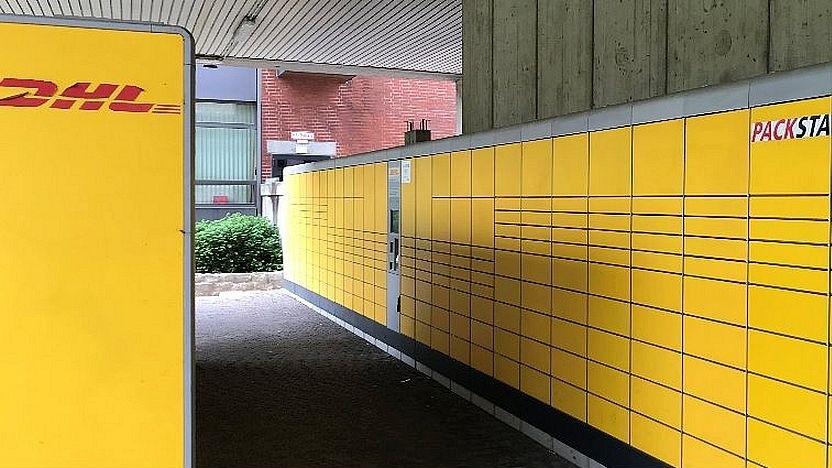 Paketautomaten der DHL in München