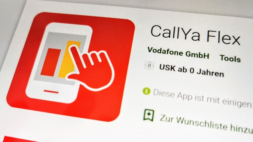 Nicht immer flexibel: die Callya-Flex-App von Vodafone
