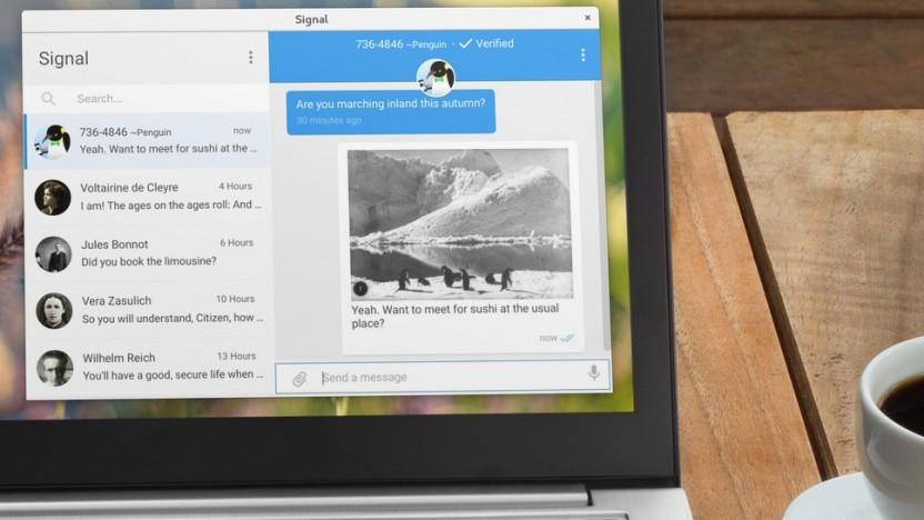 Darf nicht auf den Rechnern im EU-Parlament installiert werden: der Messenger Signal.