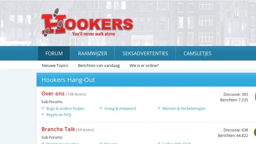 Screenshot eines betroffenen Forums