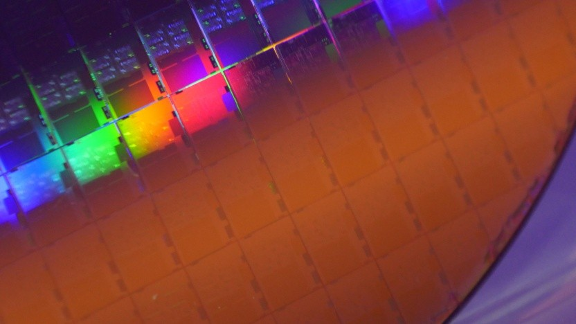 Wafer mit 10-nm-Ice-Lake-Chips