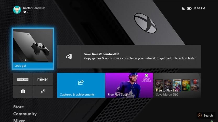 Artwork des Menüs der Xbox One