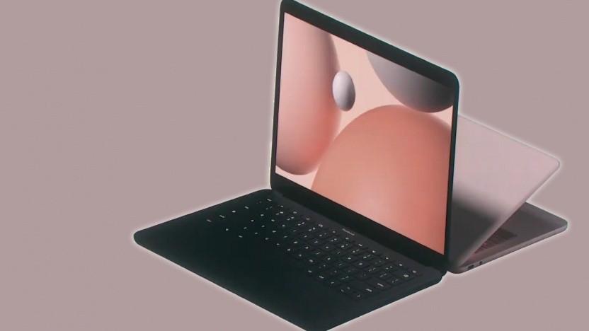Das Pixelbook Go ist ein Clamshell-Notebook.