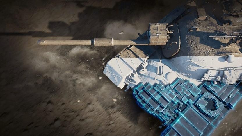 Panzer-Modell mit BVH-Struktur