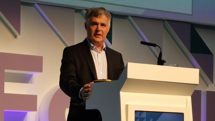 Stephen Rue, Chef von NBN Co, am 16. Oktober 2019 auf dem Broadband World Forum in Amsterdam