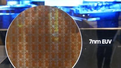 Wafer mit 7-nm-EUV-Testchips von Samsung