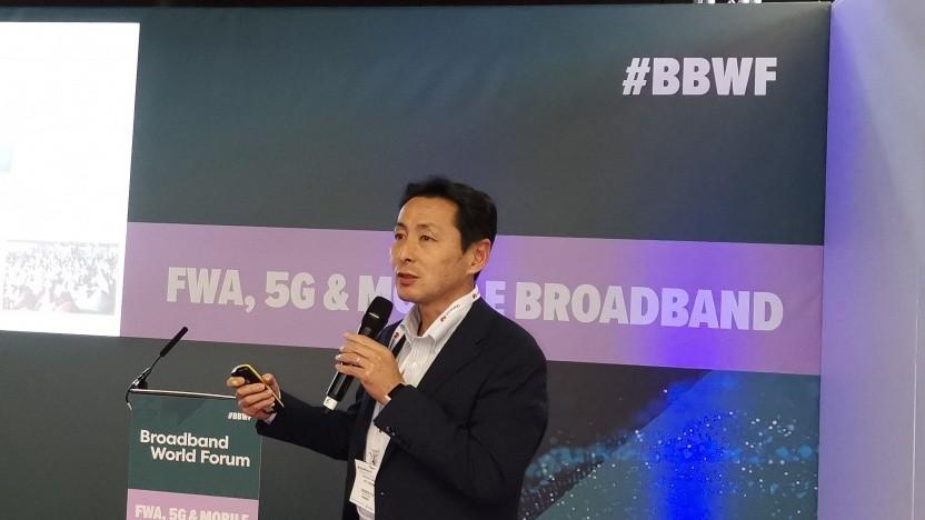 Takehiro Nakamura von NTT Docomo auf dem Broadband World Forum 2019 in Amsterdam