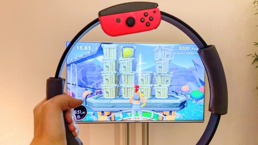 Ring Fit Adventure für die Nintendo Switch im Einsatz