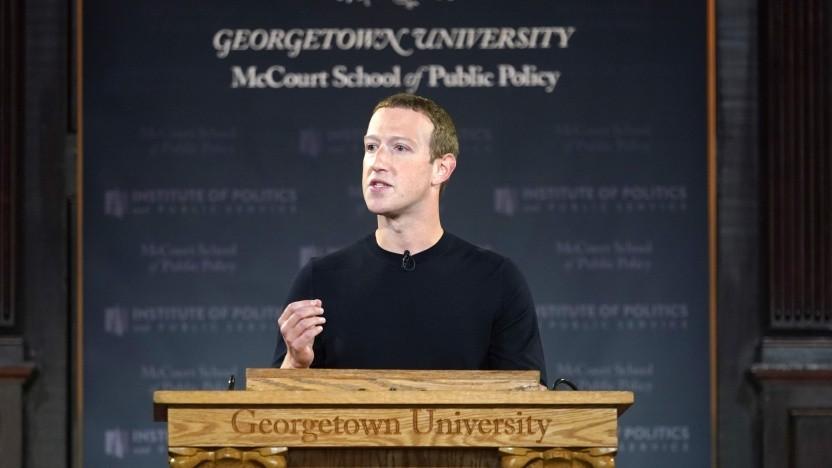 Mark Zuckerberg spricht an der Georgetown University