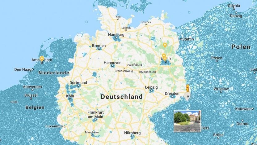 Street View in Deutschland und seinen Nachbarstaaten