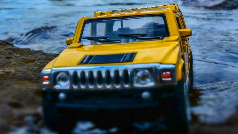 Der Hummer als Modellauto