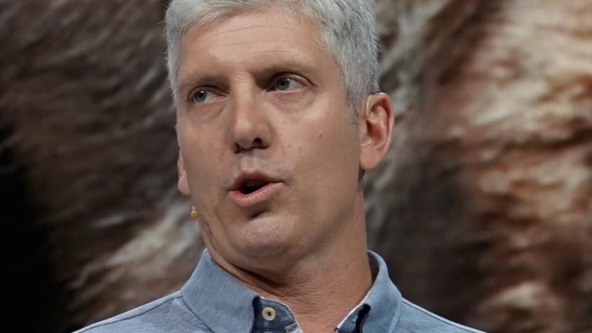 Rick Osterloh will Besuch auf smarte Lautsprecher im Haushalt hinweisen.