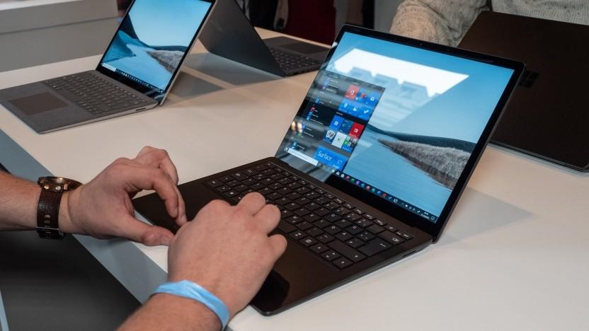 Der Surface Laptop 3 ist noch immer sehr schick.