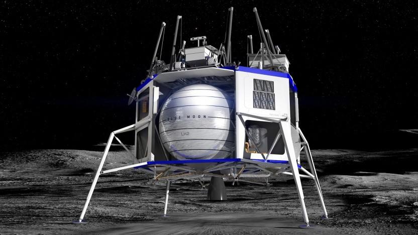 Der Blue Moon Lander soll die Landefähre für die nächsten Menschen auf dem Mond sein.