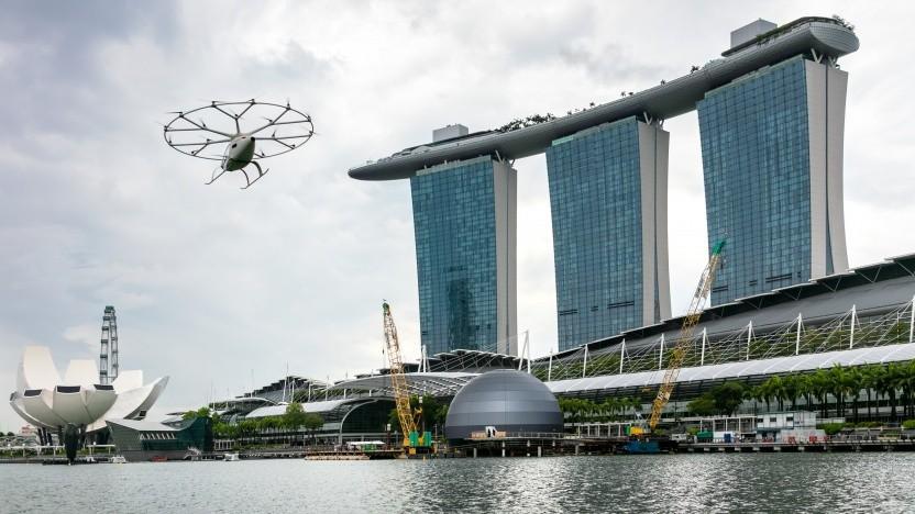 Der Volocopter-Flug in Singapur